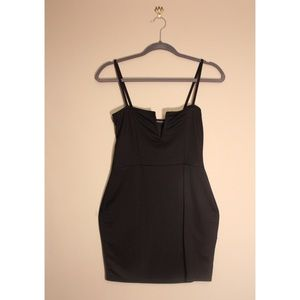 PrettyLittleThing Thigh Split Plunge Dress